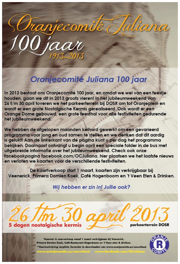 Oranjecomite Programma Eeuwfeest